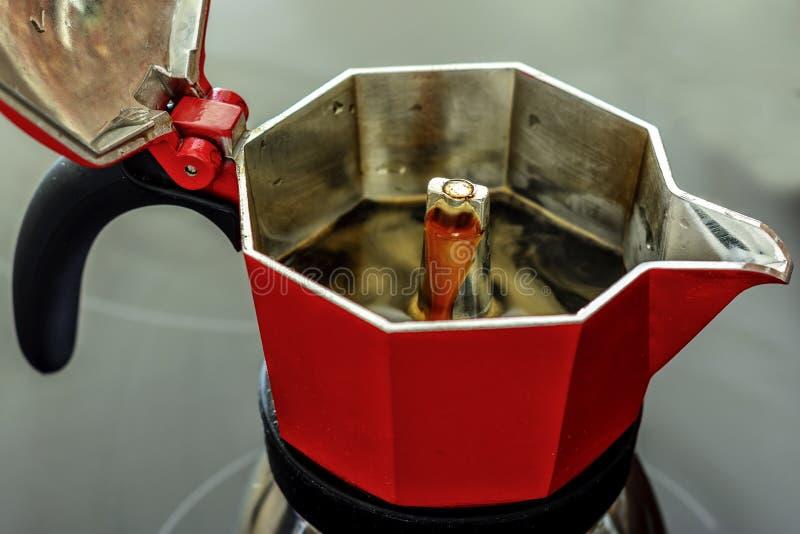 Coffee Maker Italian Style - Moka. Coffee Maker Italian traditional breakfast Style - Home maker coffee With Moka stock images