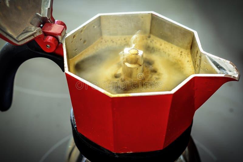 Coffee Maker Italian Style - Moka. Coffee Maker Italian traditional breakfast Style - Home maker coffee With Moka royalty free stock photography