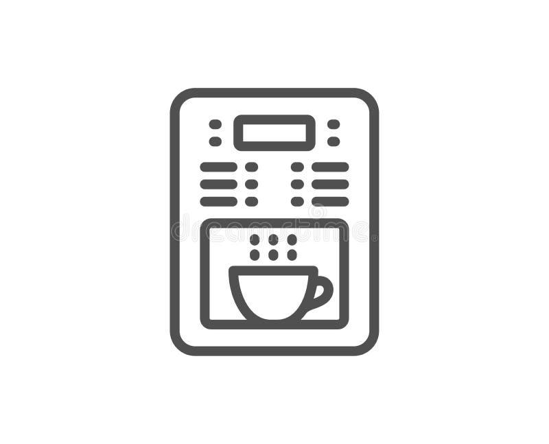 Coffee maker line icon. Vending machine sign. Make tea. Vector. Coffee maker line icon. Vending machine sign. Make tea symbol. Quality design element. Linear stock illustration