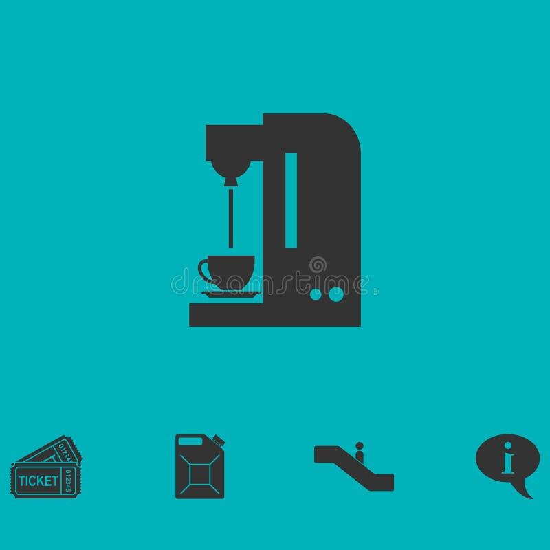 Coffee maker machine icon flat. Simple vector symbol and bonus icon vector illustration