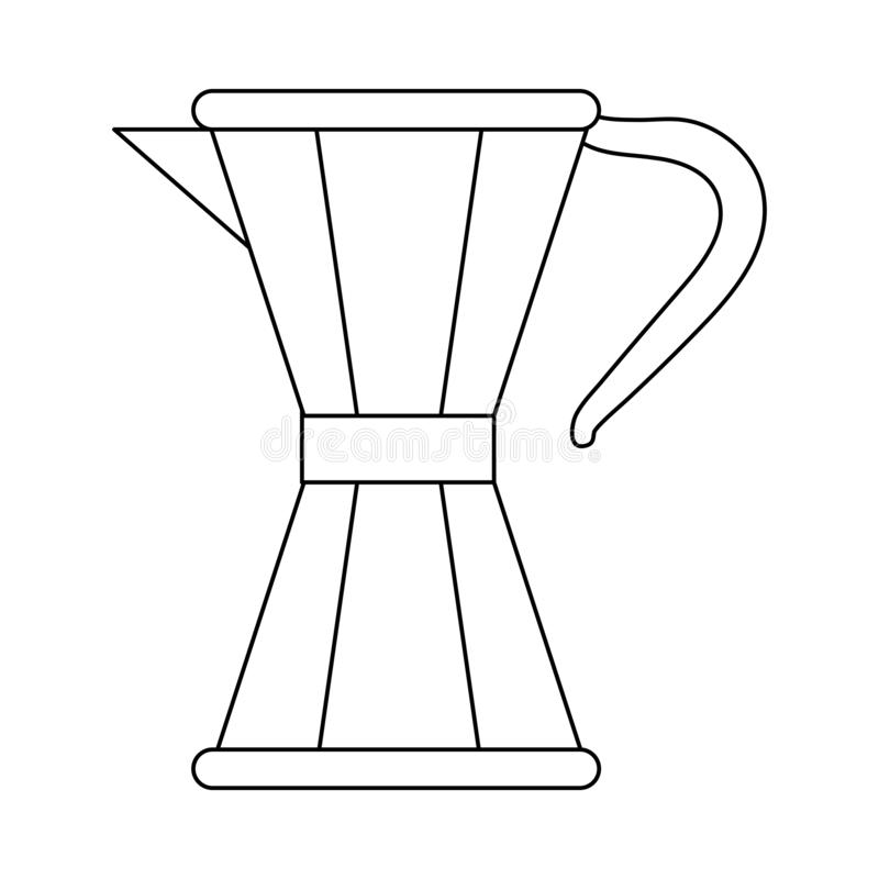 Coffee maker moka in black and white. Coffee maker moka symbol vector illustration graphic design vector illustration