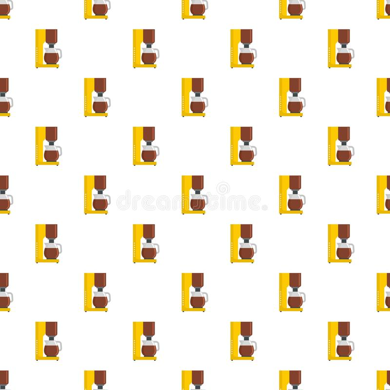 Coffee maker pattern seamless vector. Repeat for any web design royalty free illustration