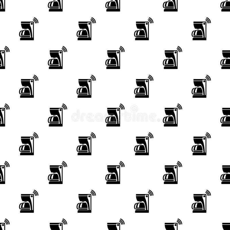 Coffee maker pattern vector seamless. Repeating for any web design royalty free illustration