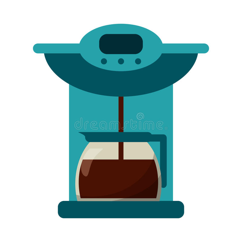 coffee maker pot machine royalty free illustration