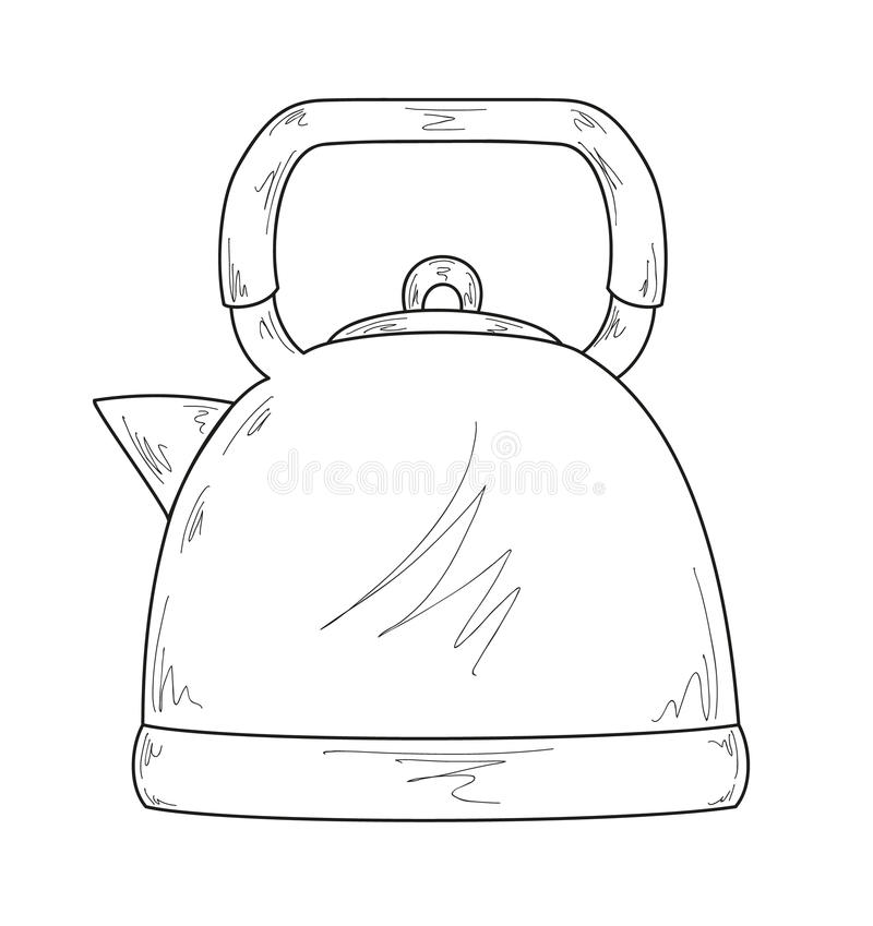 Coffee maker. Sketch of the coffee maker, vector, isolated vector illustration