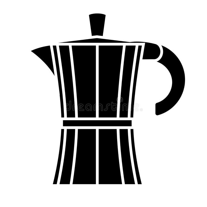 Coffee maker. Vector illustration. Geyser coffee maker on white background. Vector illustration royalty free illustration