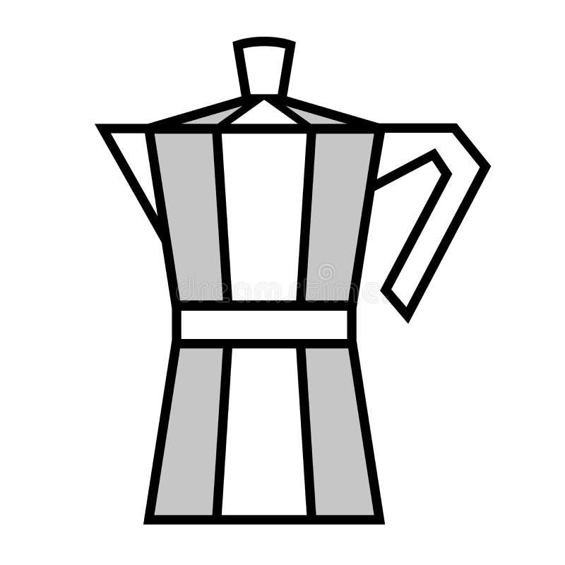 Coffee maker. Vector illustration. Italian coffee maker, moka pot. Vector illustration stock illustration