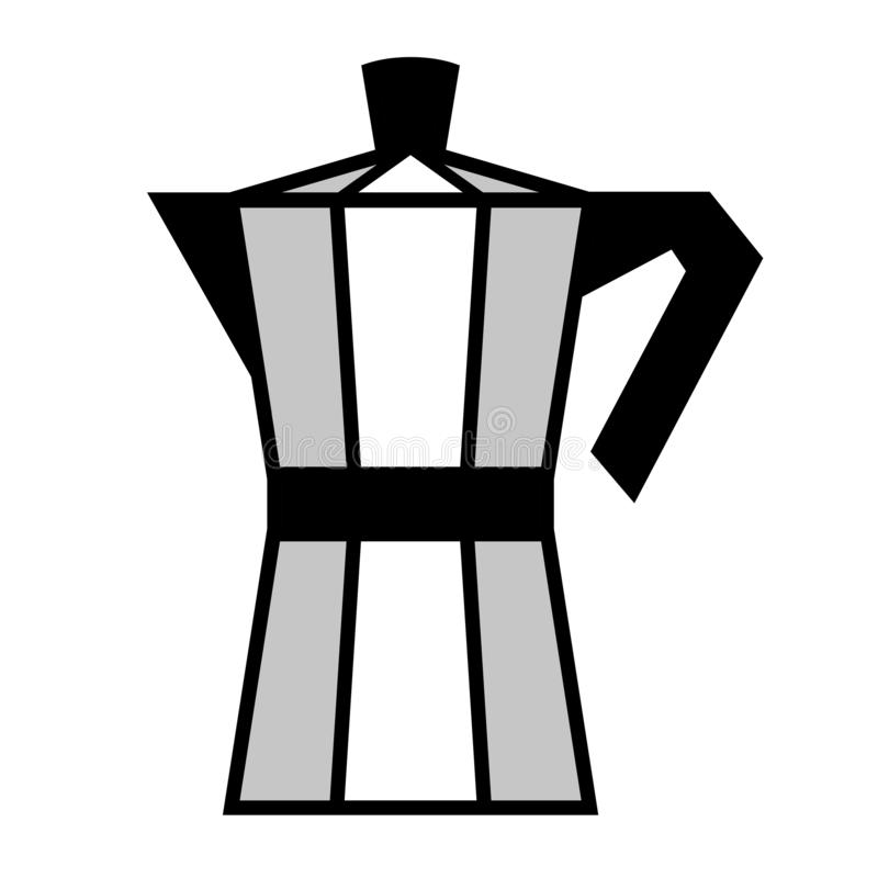 Coffee maker. Vector illustration. Italian coffee maker, moka pot. Vector illustration vector illustration