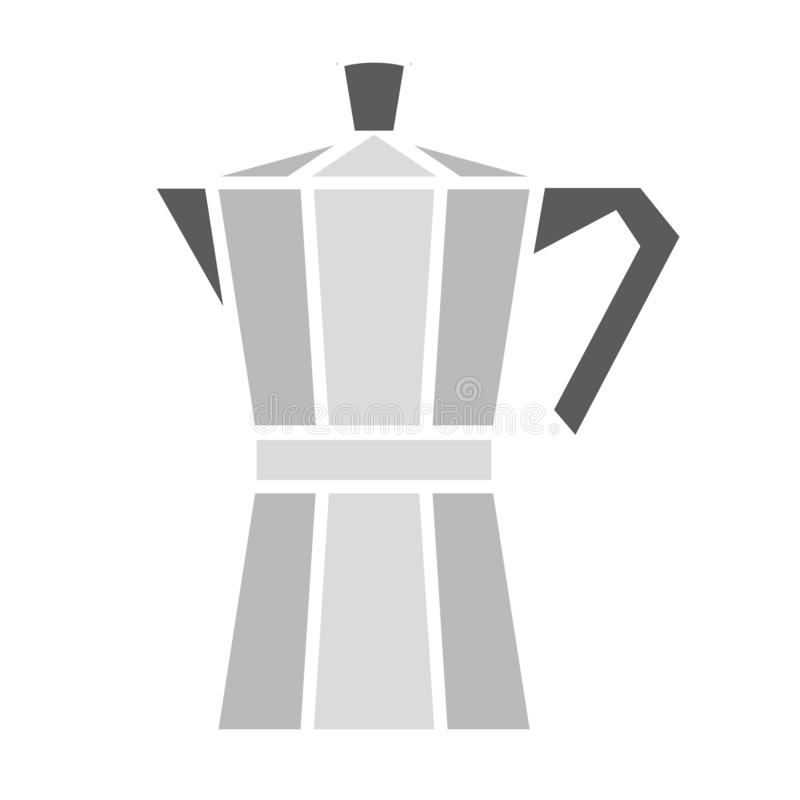 Coffee maker. Vector illustration. Italian coffee maker, moka pot. Vector illustration royalty free illustration