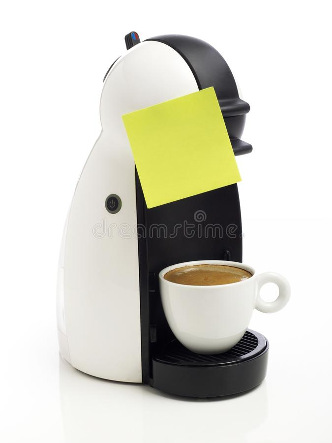 Coffee maker on white stock image