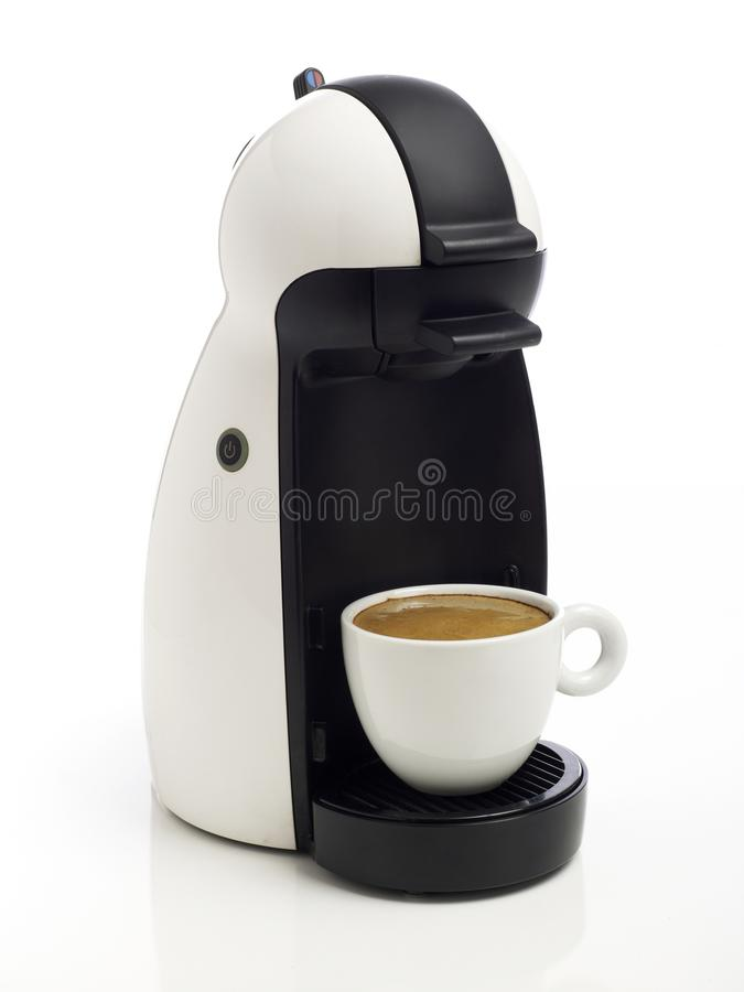 Coffee maker on white stock photo