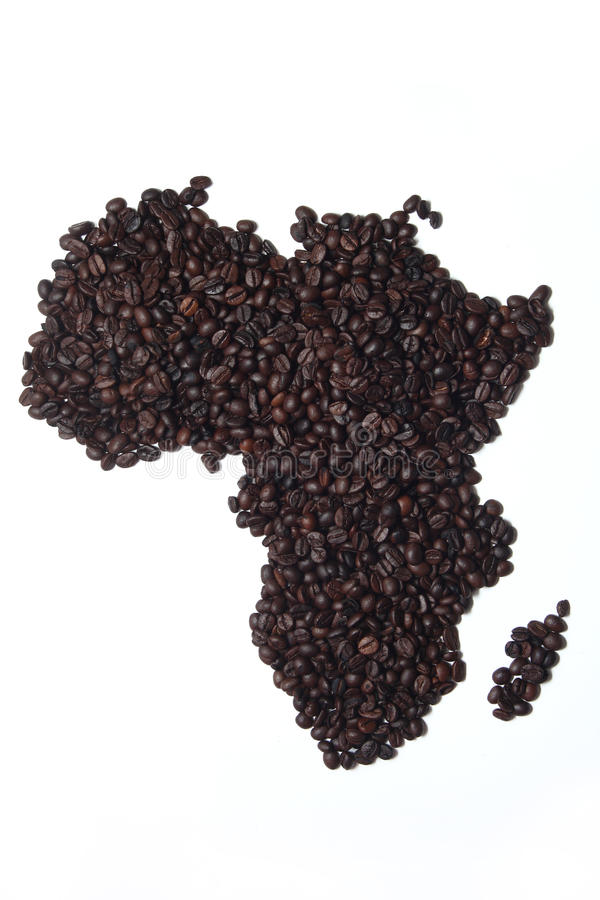 Coffee Map Africa Stock Images