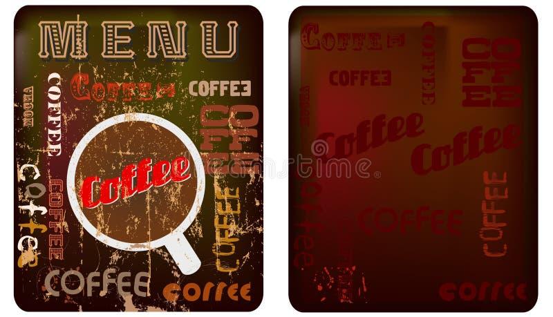 Coffee menu template stock illustration