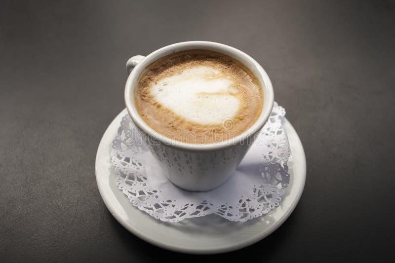 Coffee with milk. Cortado stock images