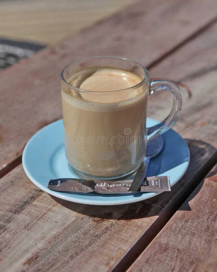 Coffee with milk royalty free stock photos
