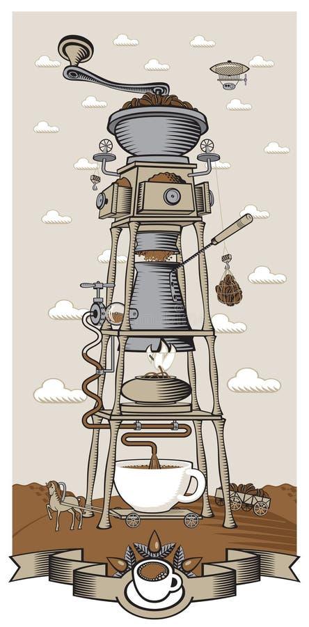 Coffee mill vector illustration