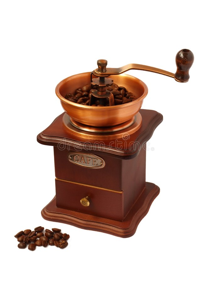 Coffee-mill stock photography