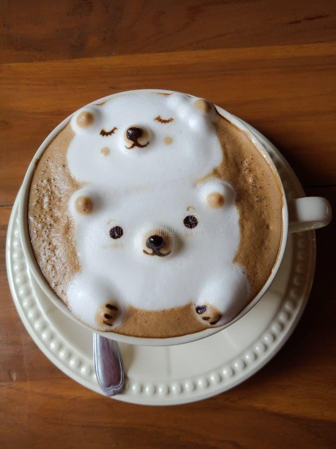 Coffee mocha bear rest stock photo
