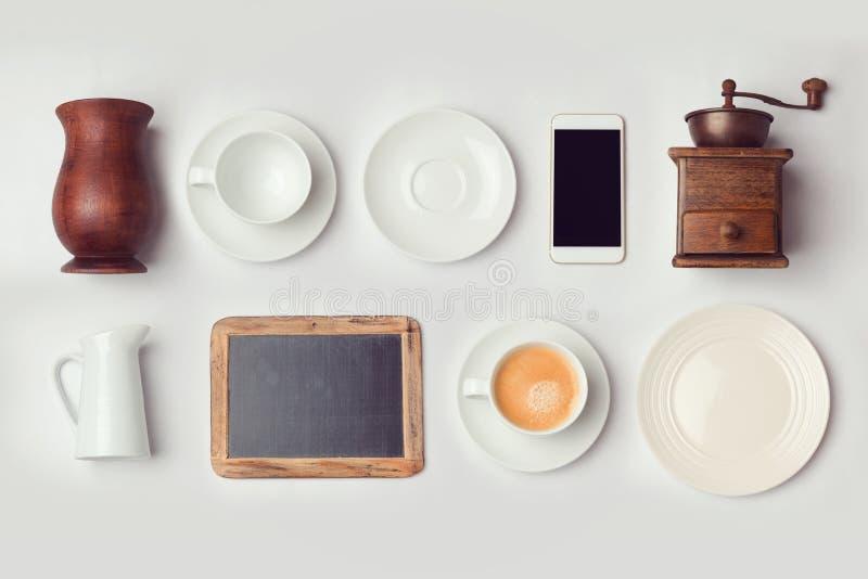 Coffee mock up branding template. stock image