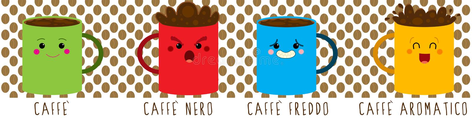 Download Coffee mood stock illustration. Image of brown, cappuccino - 28802275