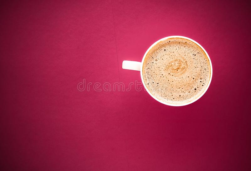 Coffee in the morning, flatlay background with copyspace. Hot drink, breakfast and vintage style concept - Coffee in the morning, flatlay background with stock images