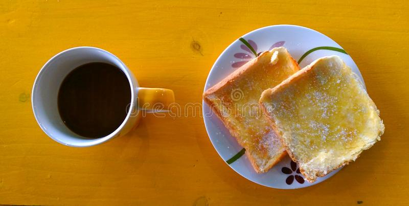 Coffee morning before work royalty free stock image