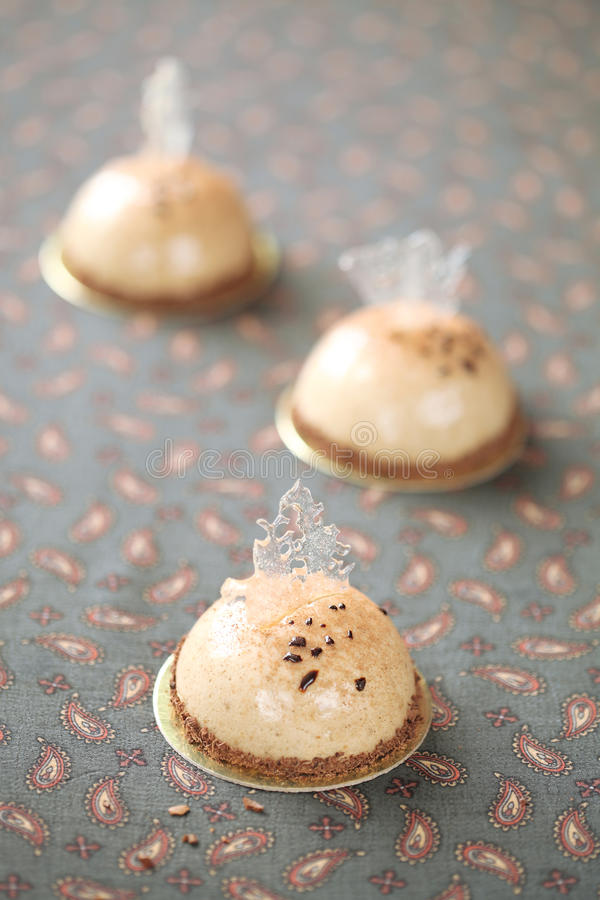 Download Coffee Mousse Cakes stock image. Image of elegant, baked - 39655497