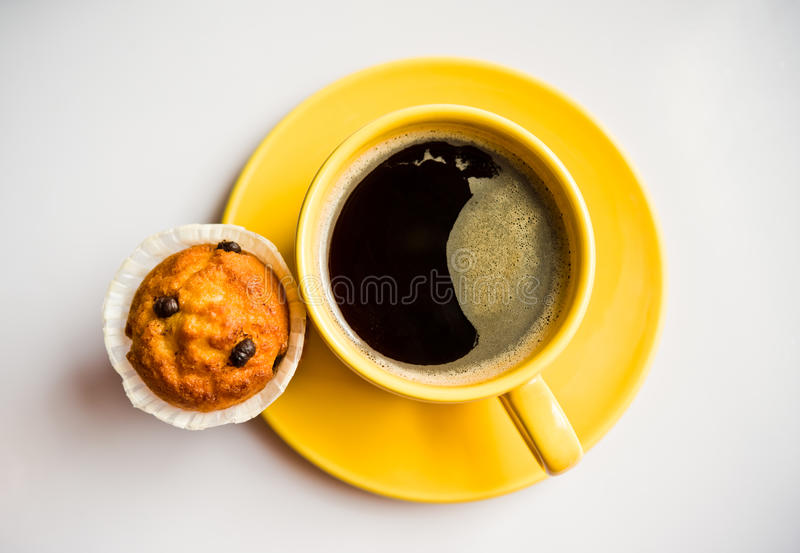 Download Coffee and a muffin stock image. Image of cake, saucer - 25206695
