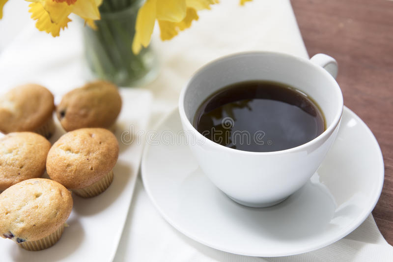 Coffee and Muffin Break stock photography