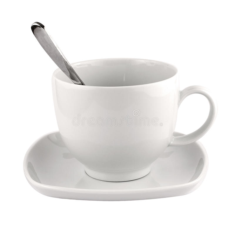 Download Empty White Coffee Tea Mug Saucer Royalty Free Stock Images - Image: 21476629