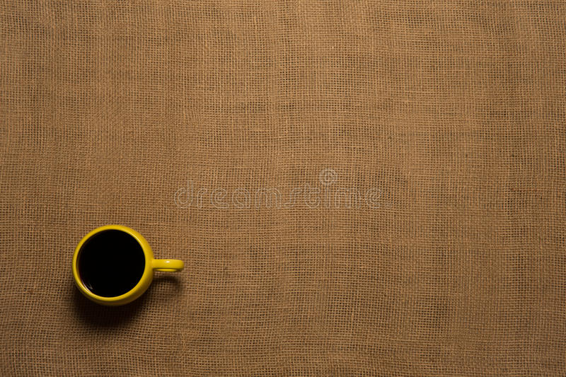 Coffee Mug Background - Top View stock images