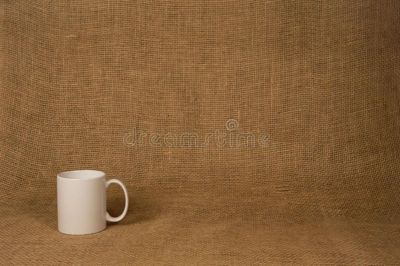 Coffee Mug Background - White Mug royalty free stock image