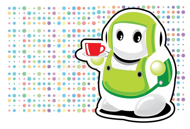 Coffee mug cartoon royalty free stock photography