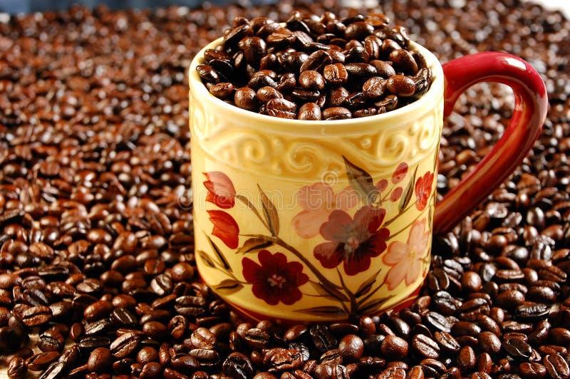 Download Coffee mug full of beans stock photo. Image of dark, drink - 6157586