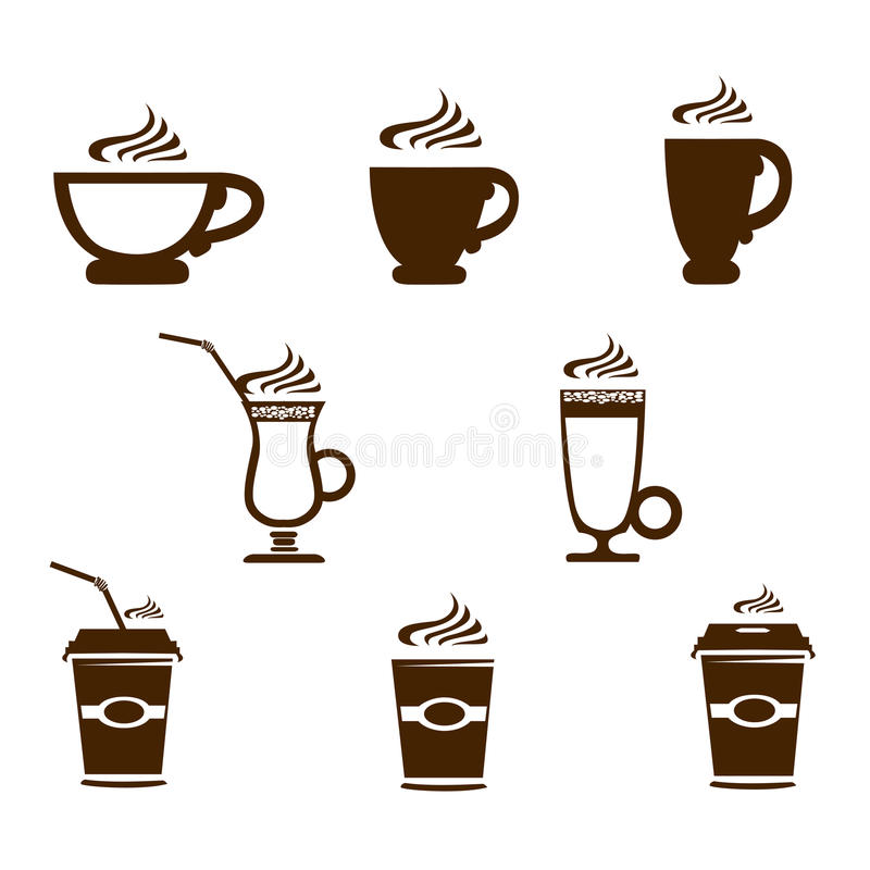 Coffee mug icons royalty free stock photo