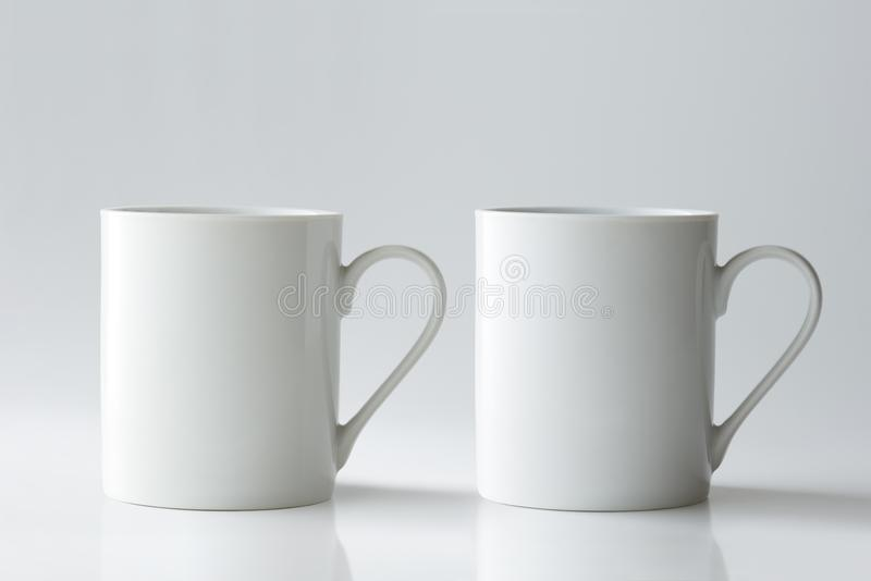 Coffee Mug Mockup isolated on light grey background. stock images