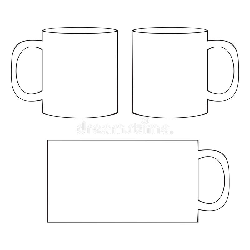coffee mug template blank cup stock vector illustration of branding template 41067041. Black Bedroom Furniture Sets. Home Design Ideas