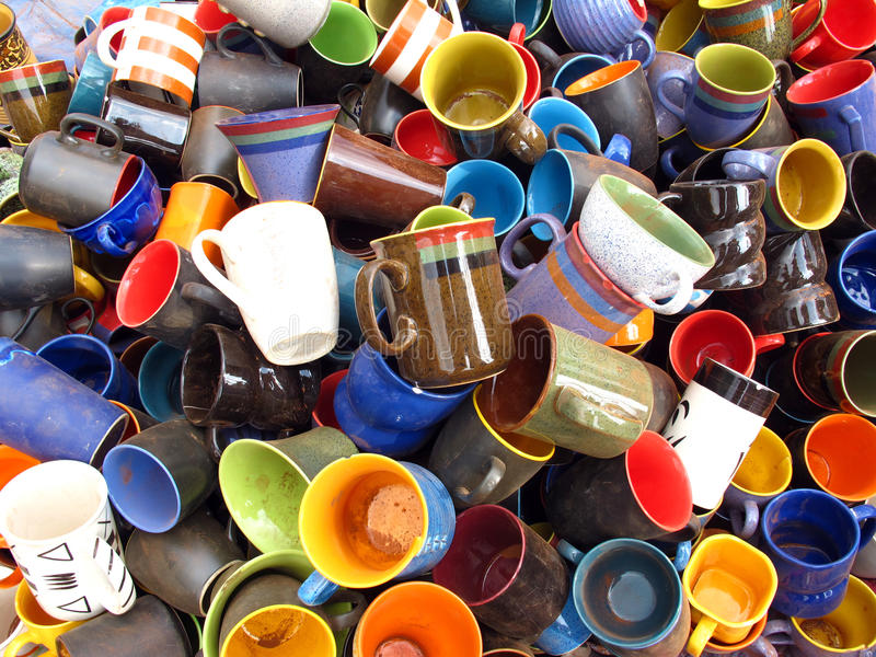 Download Coffee Mugs. stock photo. Image of cups, ceramic, bone - 14009268