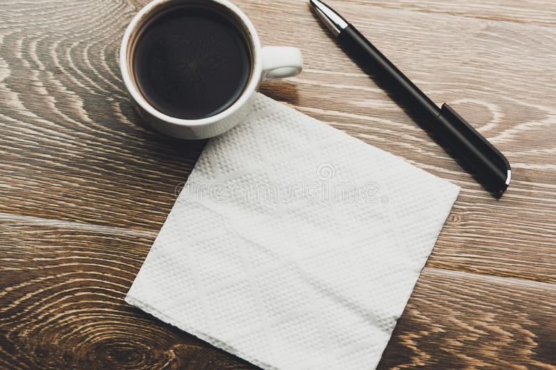 Coffee with napkin royalty free stock images