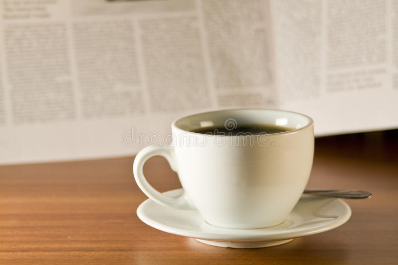 Download Coffee and newspaper stock image. Image of note, office - 12888361