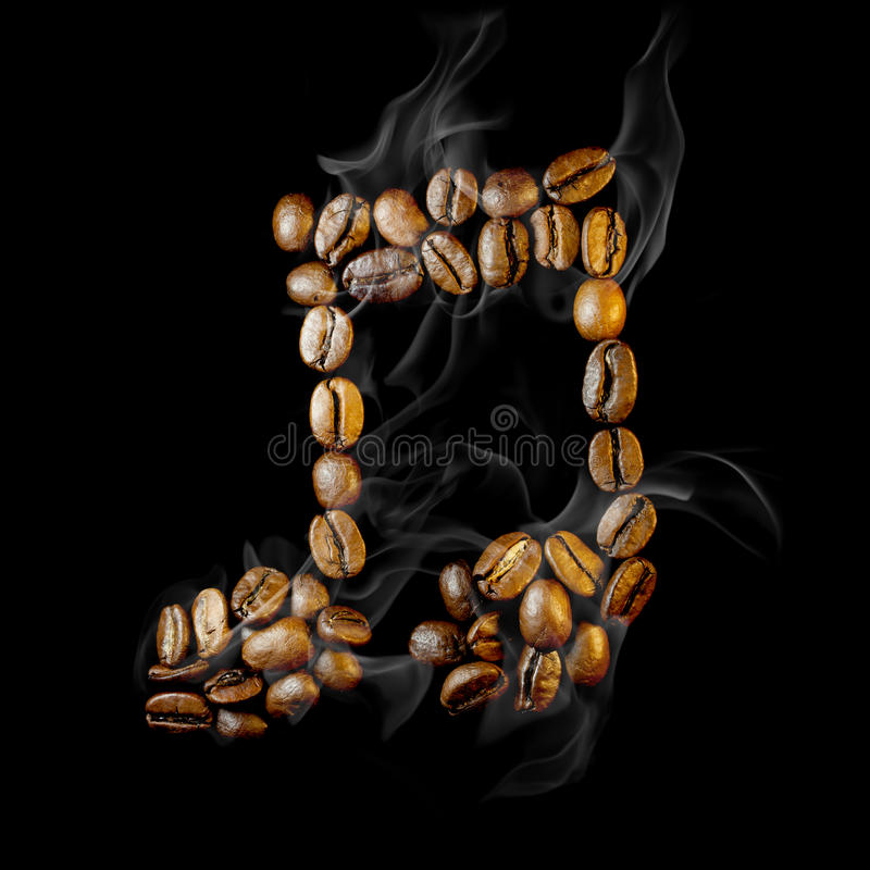 Coffee note symbol stock photography