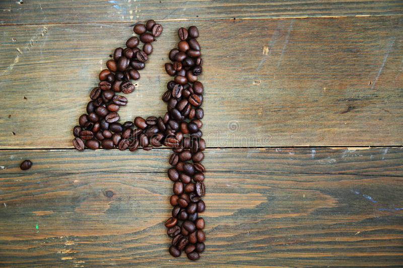 Coffee number four stock image