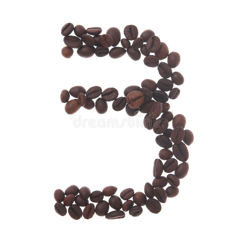Coffee number three royalty free stock photo