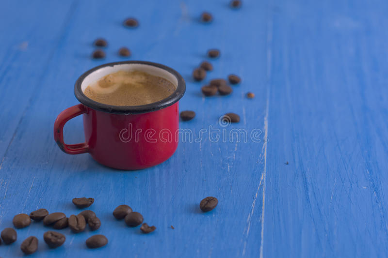 Coffee in the old cup royalty free stock image
