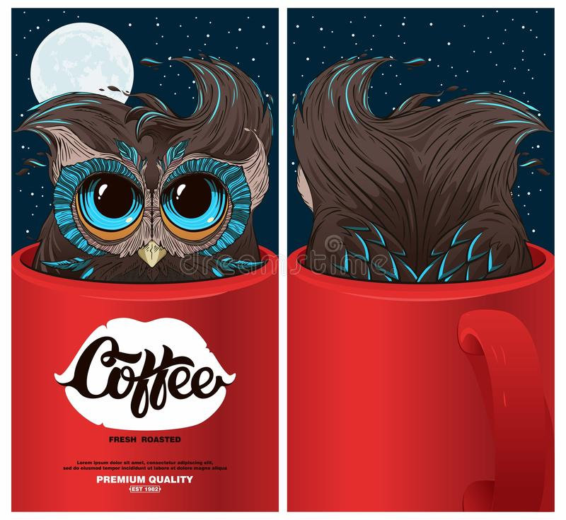 Coffee package royalty free illustration