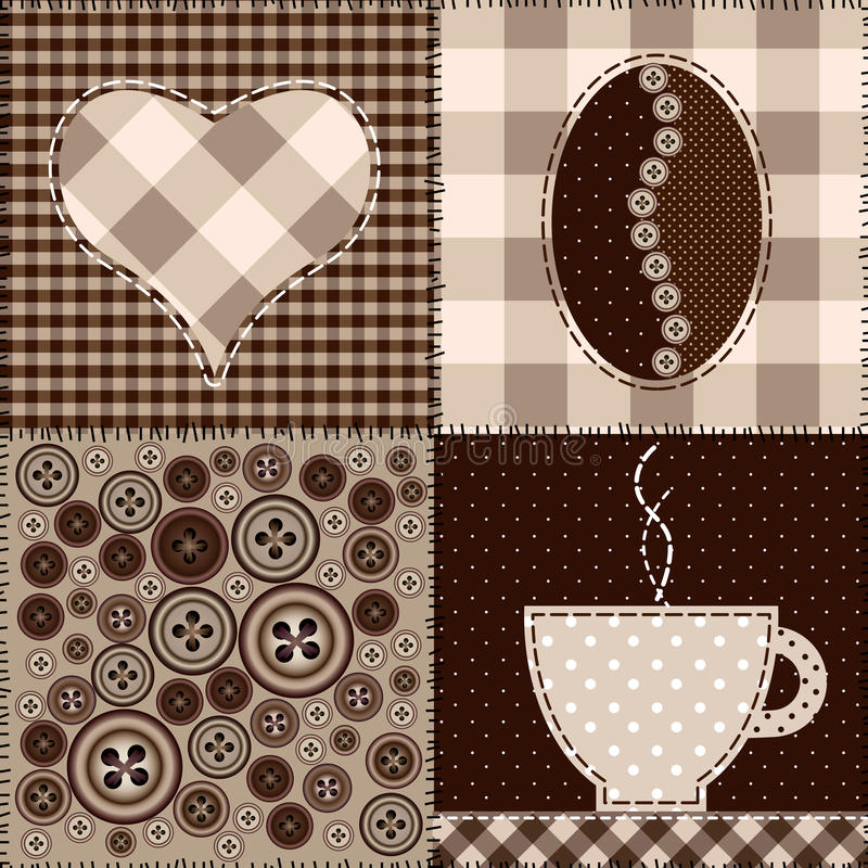 Download Coffee pattern stock vector. Image of seamless, curve - 23848665