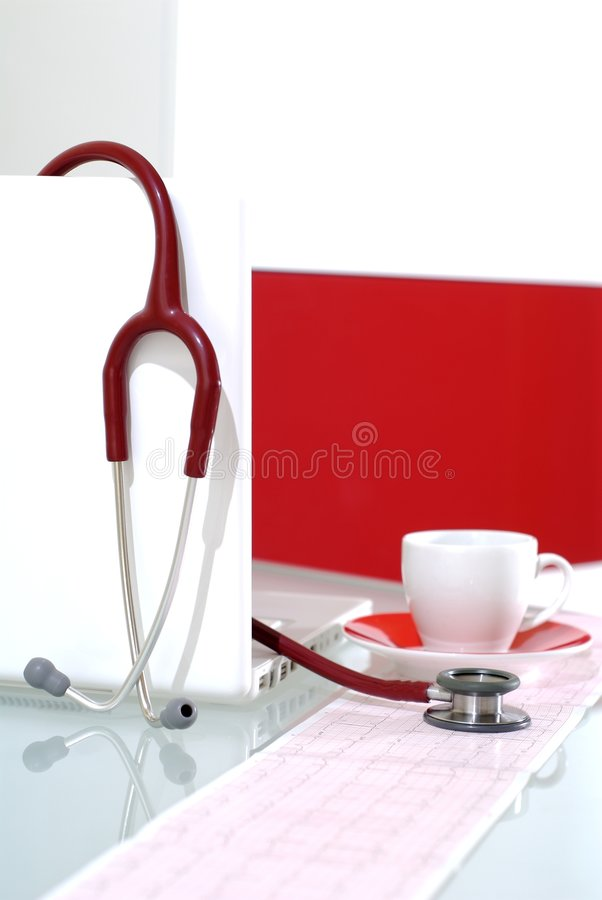 Coffee pause in the medical ce royalty free stock image