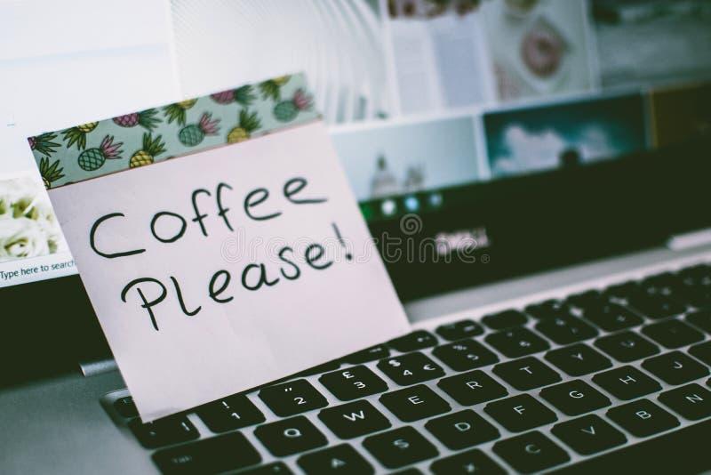 Coffee Please! Memo Pad royalty free stock photos