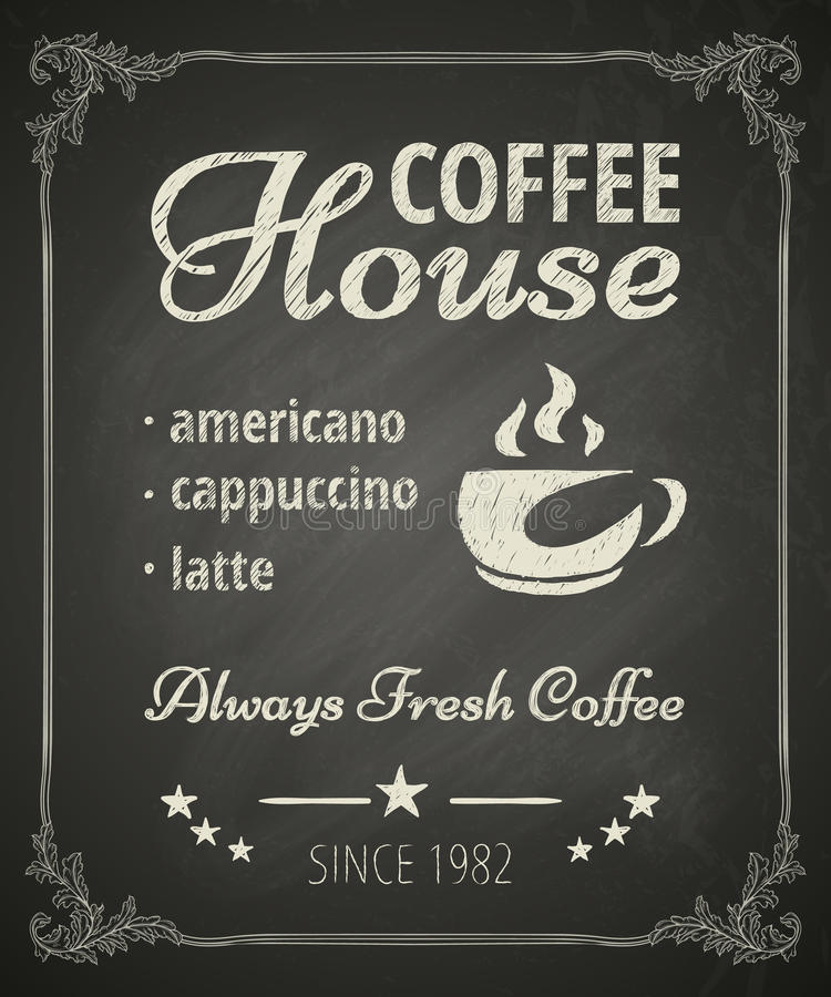 Coffee Poster stock illustration