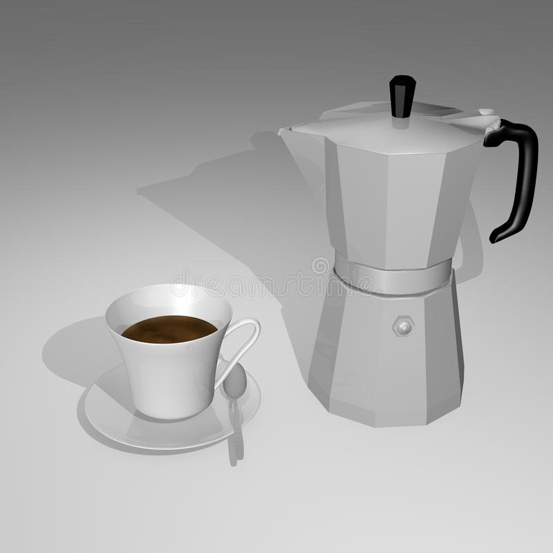 Coffee Pot With Cup Royalty Free Stock Photography